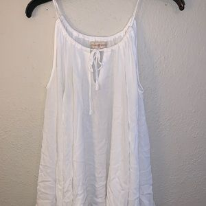 White off the shoulder flowy top